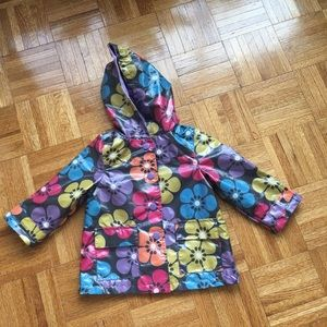 Carter s floral rain jacket girls 24 M 2years old